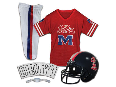 Ole Miss Rebels Franklin NCAA Kids Deluxe Football Uniform Set-Small