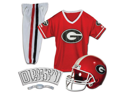 Georgia Bulldogs Franklin NCAA Kids Deluxe Football Uniform Set-Medium
