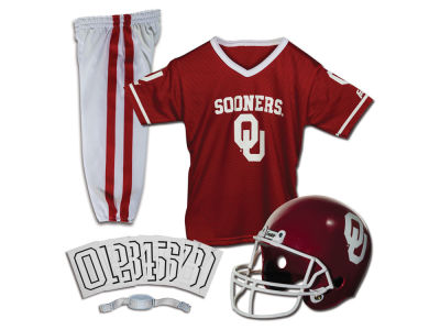 Oklahoma Sooners Franklin NCAA Kids Deluxe Football Uniform Set-Medium