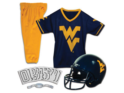 West Virginia Mountaineers Franklin NCAA Kids Deluxe Football Uniform Set-Medium