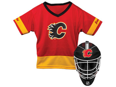 Calgary Flames Franklin NHL Youth Team Hockey Uniform Set