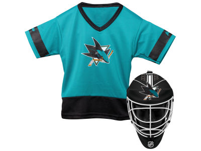 San Jose Sharks Franklin NHL Youth Team Hockey Uniform Set
