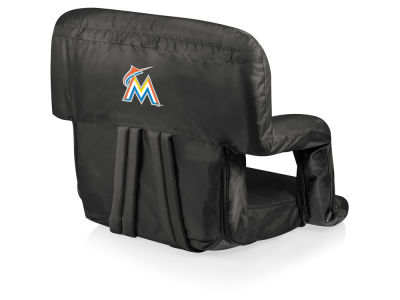 Miami Marlins Picnic Time Ventura Portable Reclining Stadium Seat