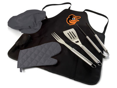Baltimore Orioles Picnic Time BBQ Apron Tote Pro with Tools