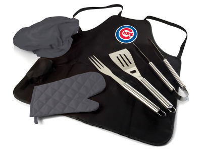 Chicago Cubs Picnic Time BBQ Apron Tote Pro with Tools