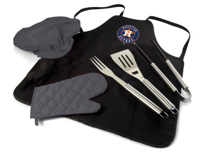 Houston Astros Picnic Time BBQ Apron Tote Pro with Tools