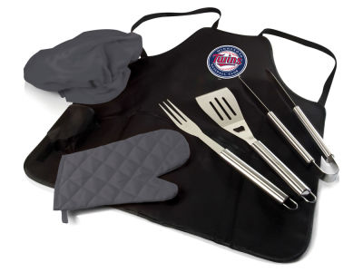Minnesota Twins Picnic Time BBQ Apron Tote Pro with Tools