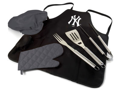 New York Yankees Picnic Time BBQ Apron Tote Pro with Tools