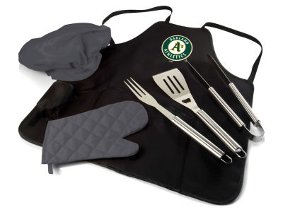 Oakland Athletics Picnic Time BBQ Apron Tote Pro with Tools