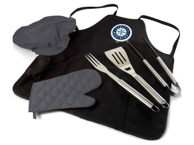 Seattle Mariners Picnic Time BBQ Apron Tote Pro with Tools