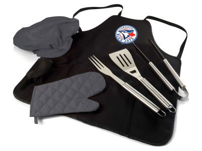 Toronto Blue Jays Picnic Time BBQ Apron Tote Pro with Tools