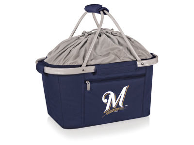 Milwaukee Brewers Picnic Time Metro Basket Collapsible Cooler Tote
