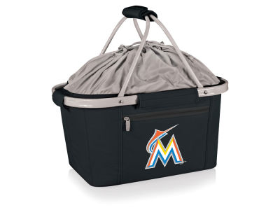 Miami Marlins Picnic Time Metro Basket Collapsible Cooler Tote