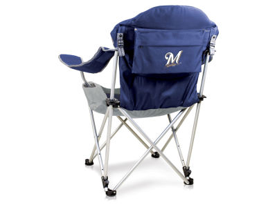 Milwaukee Brewers Picnic Time Reclining Camp Chair