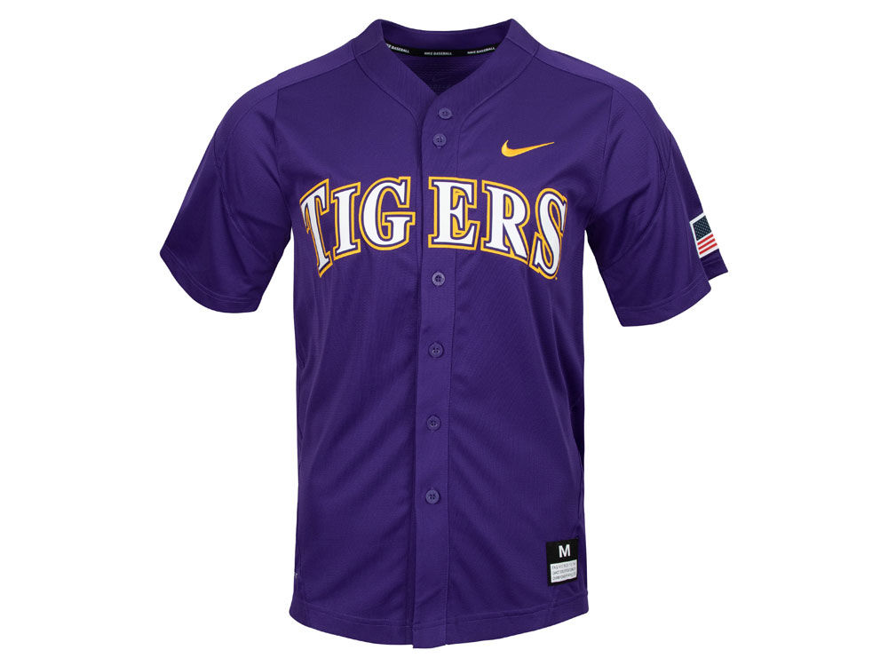 3347f6c8c LSU Tigers Nike NCAA Men s Replica Baseball Jersey