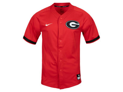 Georgia Bulldogs Nike NCAA Men s Replica Baseball Jersey 179eaa10511