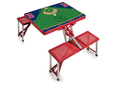 Boston Red Sox Picnic Time Picnic Table Portable Folding Table with Seats