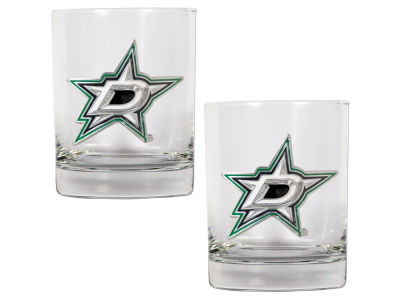 Dallas Stars Great American 2 Piece - 15oz Rocks Glass Set