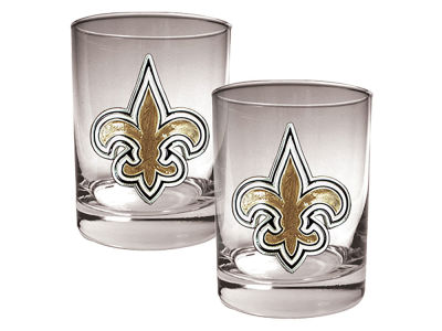 New Orleans Pelicans Great American 2 Piece - 15oz Rocks Glass Set