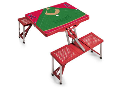 Los Angeles Angels Picnic Time Picnic Table Portable Folding Table with Seats