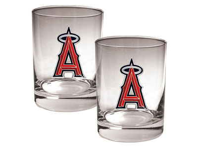 Los Angeles Angels Great American 2 Piece - 15oz Rocks Glass Set