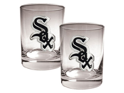 Chicago White Sox Great American 2 Piece - 15oz Rocks Glass Set
