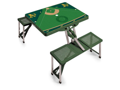 Oakland Athletics Picnic Time Picnic Table Portable Folding Table with Seats