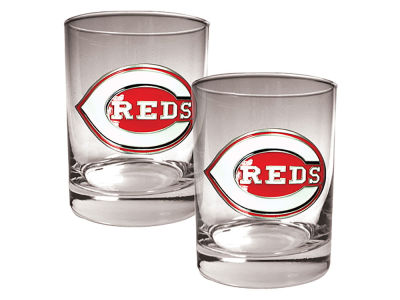 Cincinnati Reds Great American 2 Piece - 15oz Rocks Glass Set