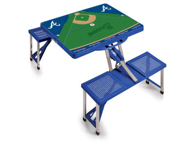 Atlanta Braves Picnic Time Picnic Table Portable Folding Table with Seats