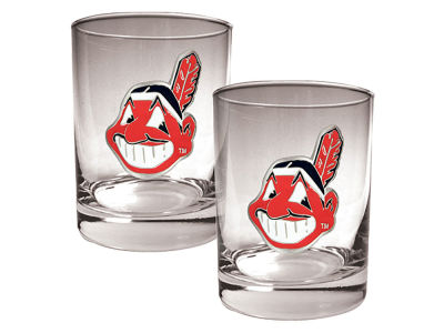 Cleveland Indians Great American 2 Piece - 15oz Rocks Glass Set