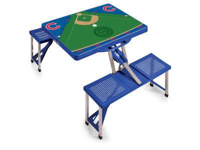 Chicago Cubs Picnic Time Picnic Table Portable Folding Table with Seats