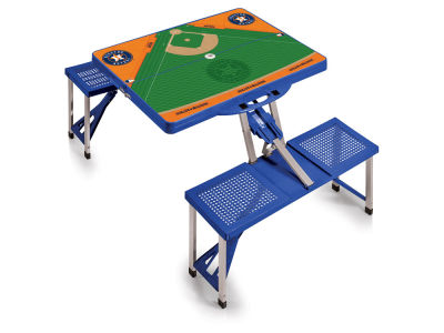 Houston Astros Picnic Time Picnic Table Portable Folding Table with Seats