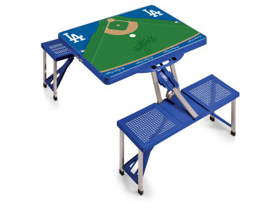 Los Angeles Dodgers Picnic Time Picnic Table Portable Folding Table with Seats