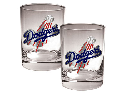 Los Angeles Dodgers Great American 2 Piece - 15oz Rocks Glass Set