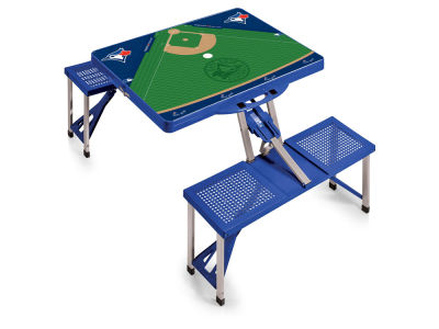 Toronto Blue Jays Picnic Time Picnic Table Portable Folding Table with Seats