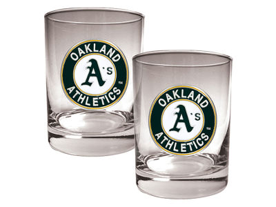 Oakland Athletics Great American 2 Piece - 15oz Rocks Glass Set
