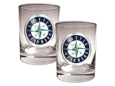 Seattle Mariners Great American 2 Piece - 15oz Rocks Glass Set