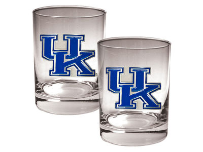 Kentucky Wildcats Great American 2 Piece - 15oz Rocks Glass Set