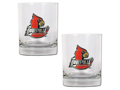 Louisville Cardinals Great American 2 Piece - 15oz Rocks Glass Set