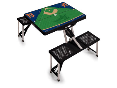 Detroit Tigers Picnic Time Picnic Table Portable Folding Table with Seats