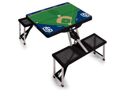 San Diego Padres Picnic Time Picnic Table Portable Folding Table with Seats