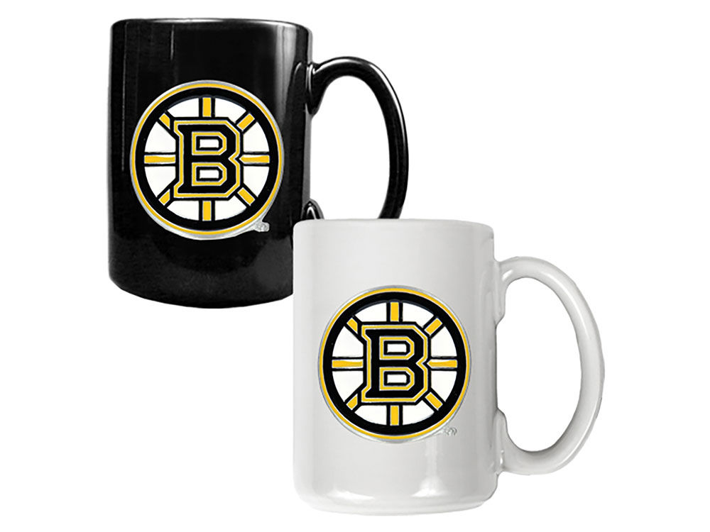Boston Bruins Great American 2pc Multi Color Coffee Mug Set  38ac79675dd8