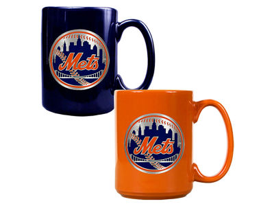 New York Mets Great American 2pc Multi Color Coffee Mug Set