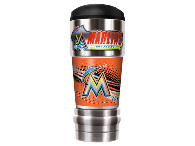 Miami Marlins Great American The MVP 18oz Vacuum Insulated Travel Tumbler