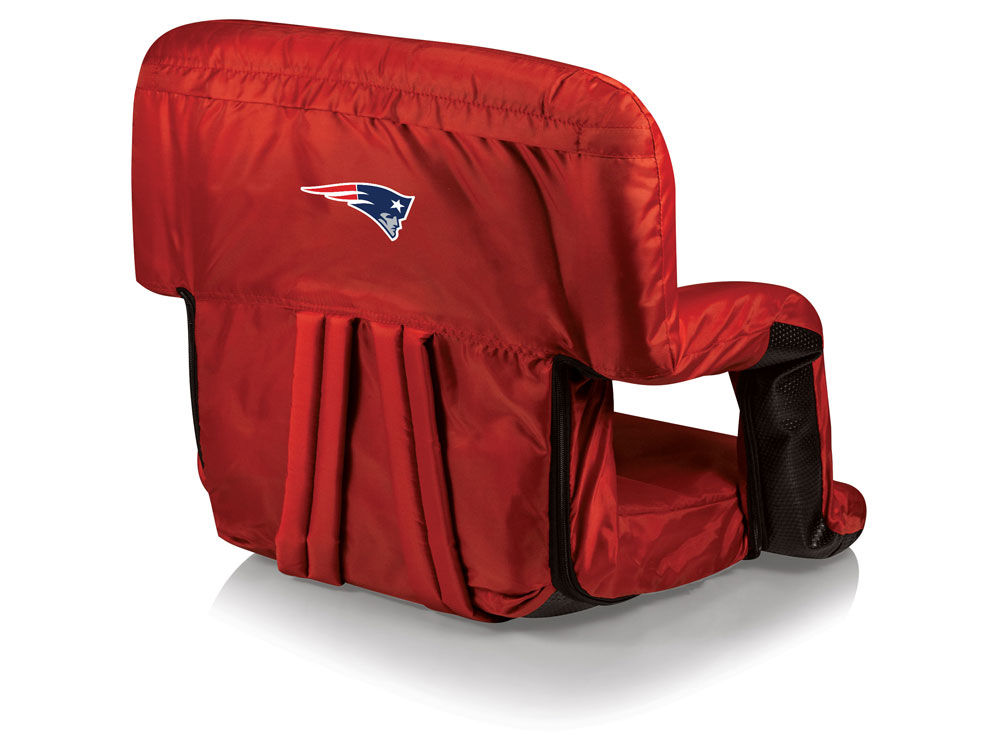 New England Patriots Picnic Time Ventura Portable Reclining Stadium Seat