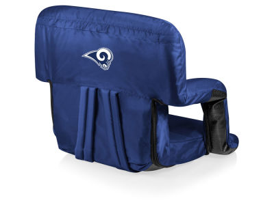 Los Angeles Rams Picnic Time Ventura Portable Reclining Stadium Seat