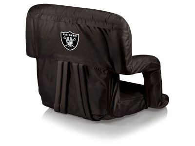 Oakland Raiders Picnic Time Ventura Portable Reclining Stadium Seat