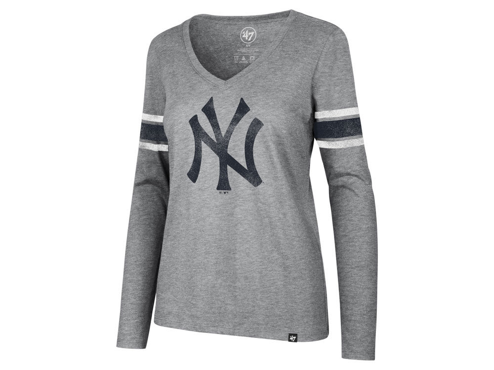 New York Yankees  47 MLB Women s Club Long Sleeve Stripe T-Shirt ... c3c614b5c47