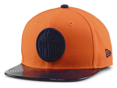 Edmonton Oilers New Era NHL Solid Shine 9FIFTY Snapback Cap cf8077286ba7