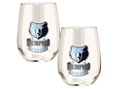 Memphis Grizzlies Great American 2pc 16oz Stemless Wine Glass Set